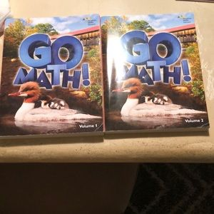 Go Math 2nd second grade volume 1 & 2 books